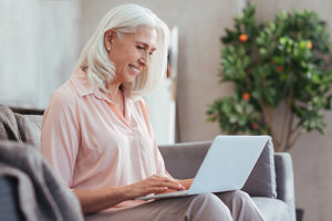 Woman appreciating ethical senior living marketing