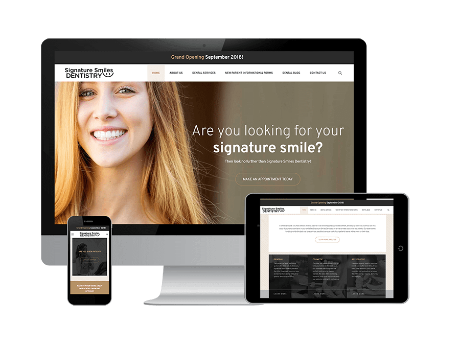 an icon to represent dental marketing or dental practice marketing services on Signature Smiles